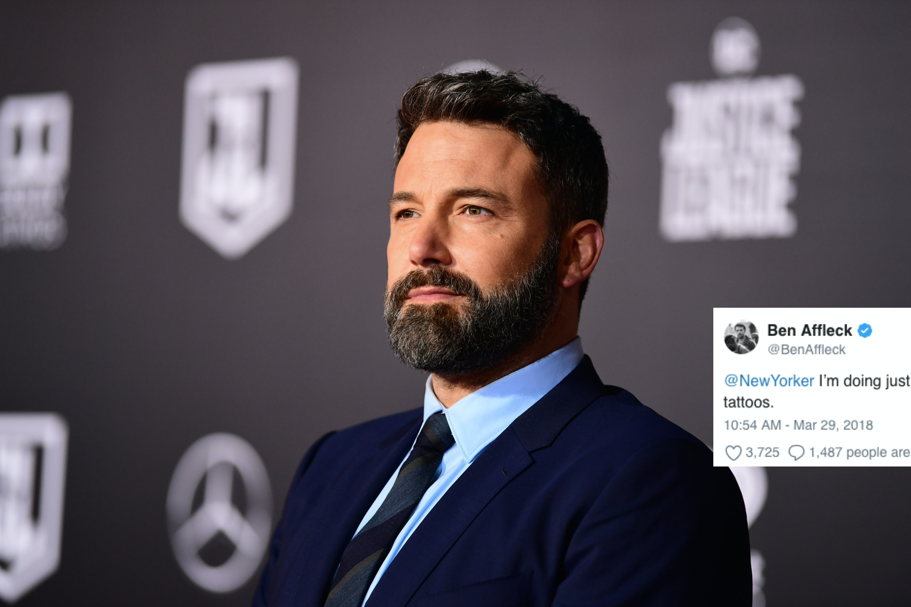 Watch Ben Affleck hits back at The New Yorker article about his tattoo video