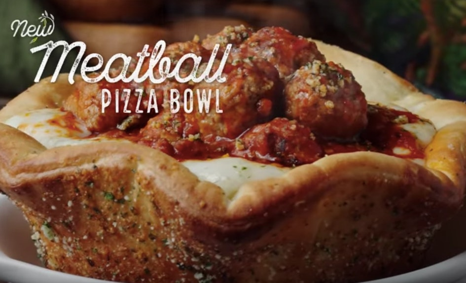 when can you order olive gardens meatball pizza bowl its only available at certain times - Olive Garden Pizza