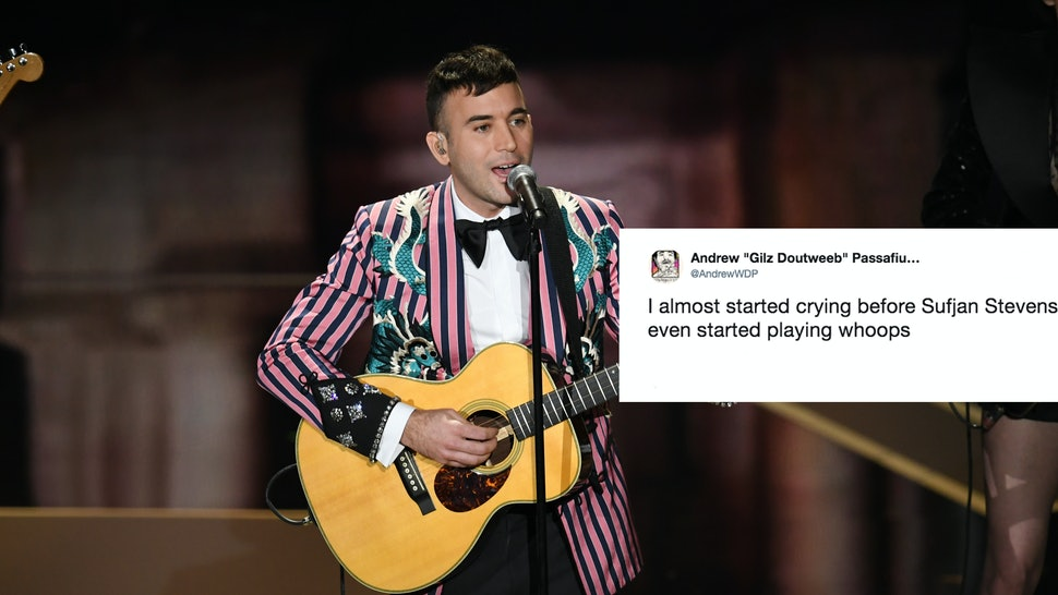 The Video Of Sufjan Stevens' 2018 Oscars Performance Is Short, But