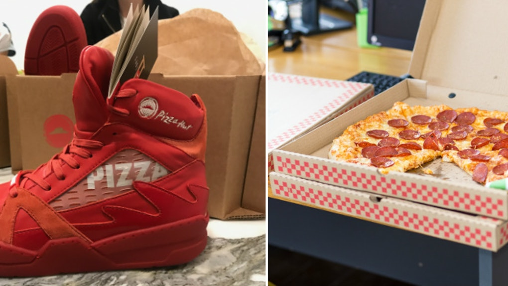 1eac6501b7e5a Where To Buy Pizza Hut Pie Tops Sneakers So You Can Order Pizza By Pressing  A Button
