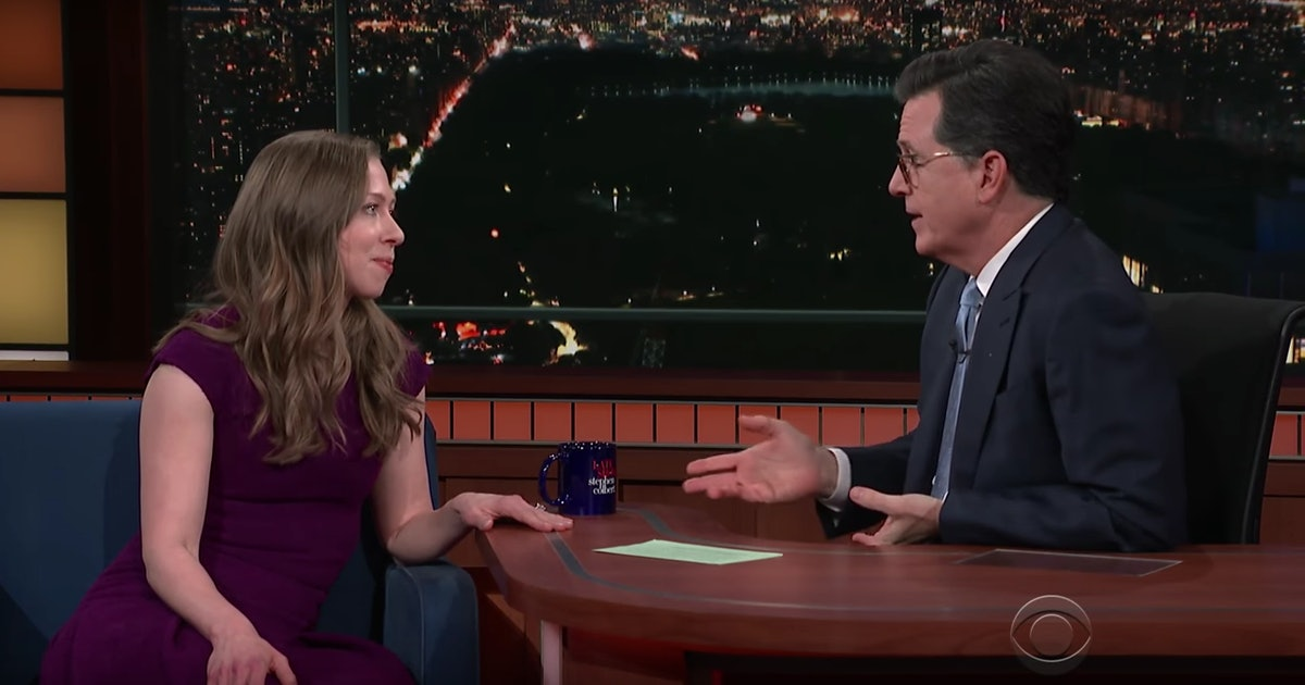 Stephen Colbert Asked Chelsea Clinton About Ivanka Trump & She Cut Right To The Chase