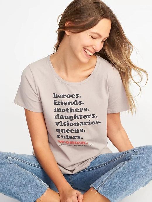 6e9a130d44e9 Old Navy's International Women's Day T-Shirt Celebrates All ...