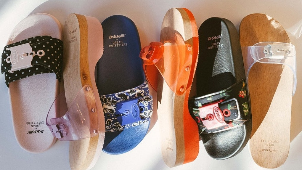 876fc85ab2af Urban Outfitters x Dr. Scholl s Jelly Poolslides Are A Blast From The  00s  Past