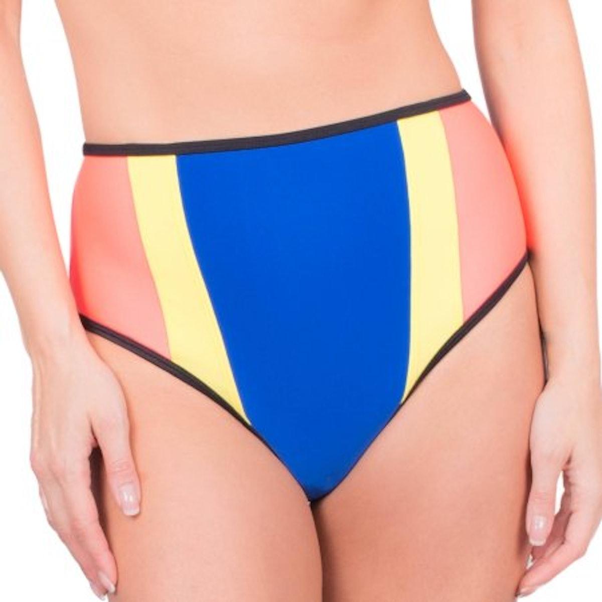 Donatella Sport Women's Neoprene High-Waisted Bikini Swimsuit Bottom