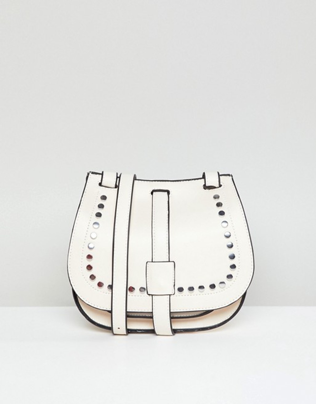 Yoki Fashion Saddle Bag with Studding