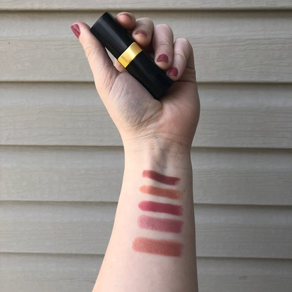 From top to bottom: Charlotte Tilbury Lipstick in Very Victoria, Penelope Pink, and The Duchess and ...