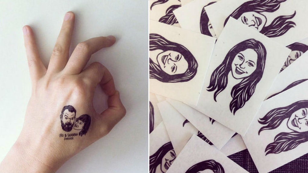 These Customized Temporary Tattoos Of Your Face Are The
