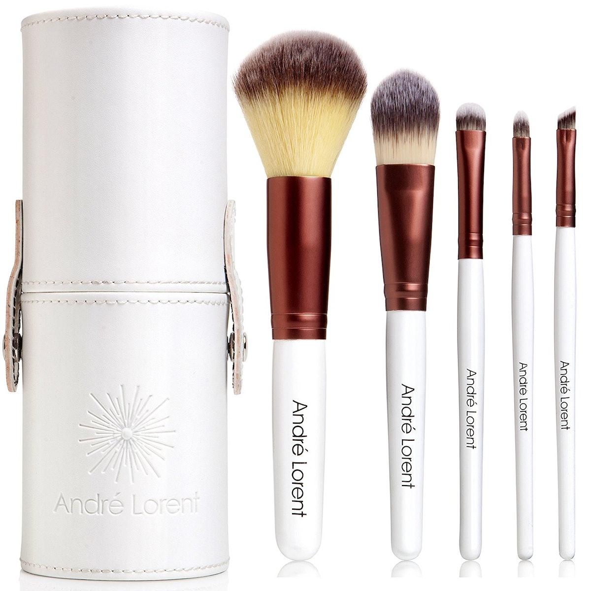 Andre Lorent 5-Piece Vegan Makeup Brush Set