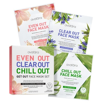 Avatara Get Out Face Mask Set