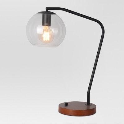 Menlo Glass Globe Desk Lamp