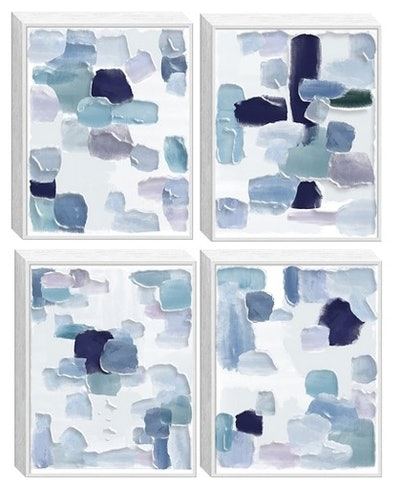 Structure 4pc Tinted Gel Framed Wall Canvas 21 X 27 X 5