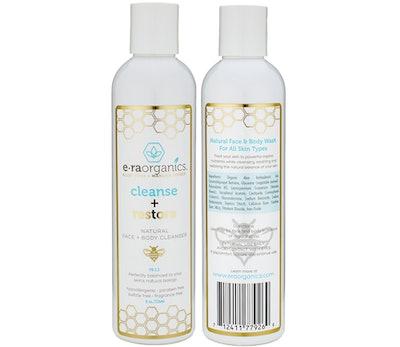E•ra Organics Cleanse + Restore Face + Body Cleanser