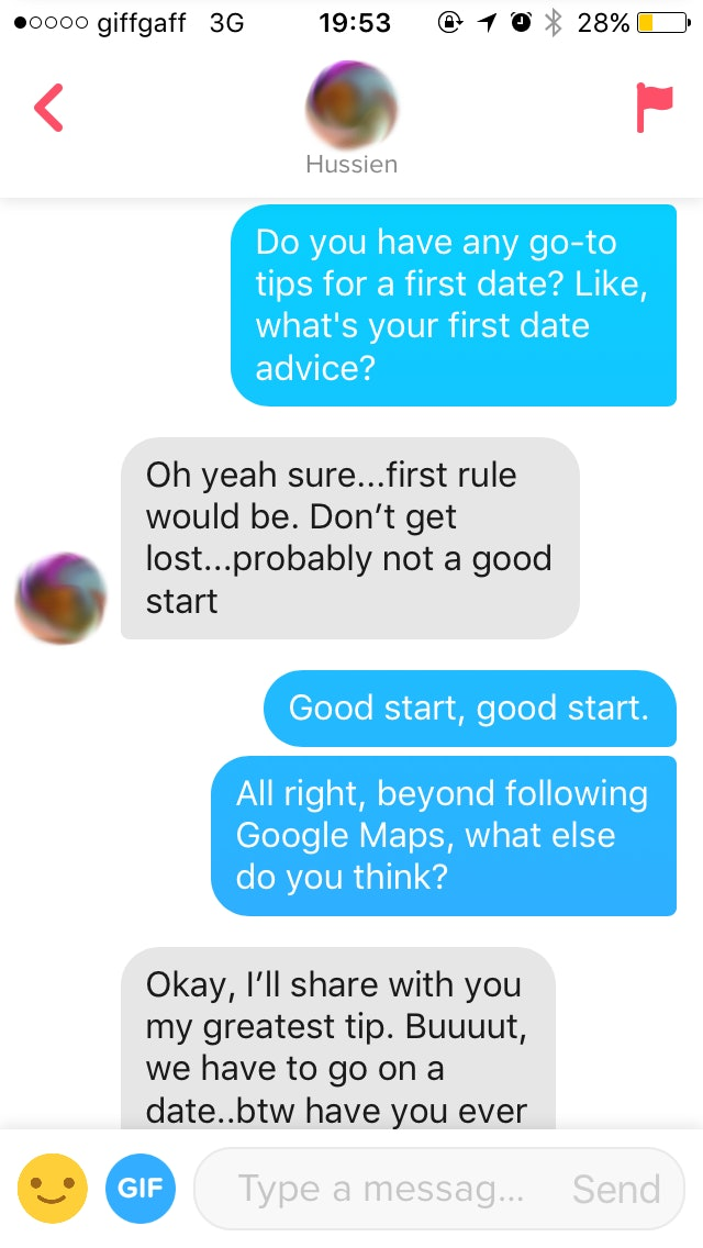 tinder dating first date tips