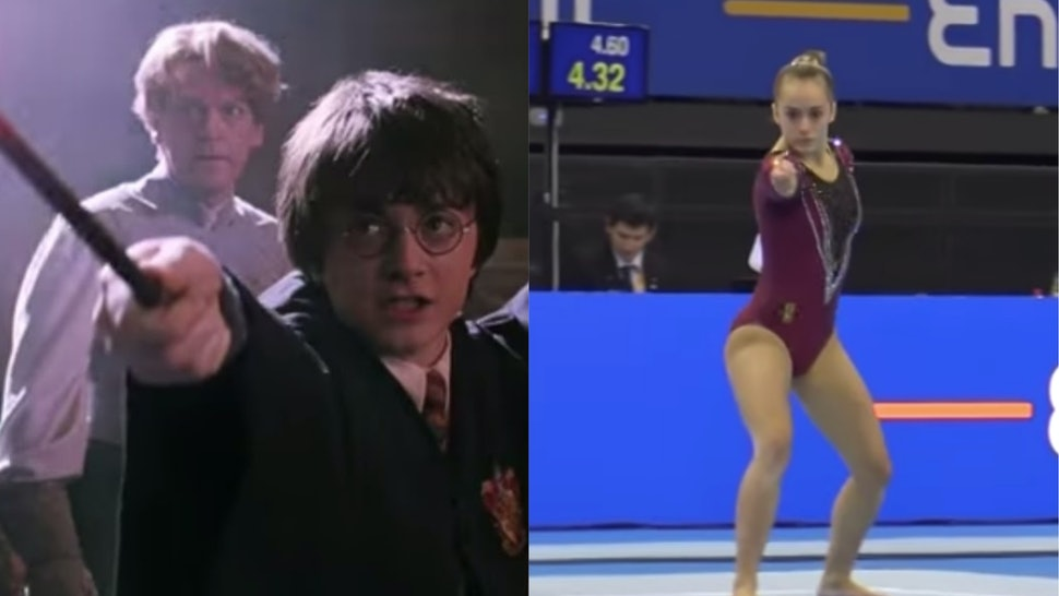 This Gymnast S Harry Potter Themed Floor Routine Just Put The