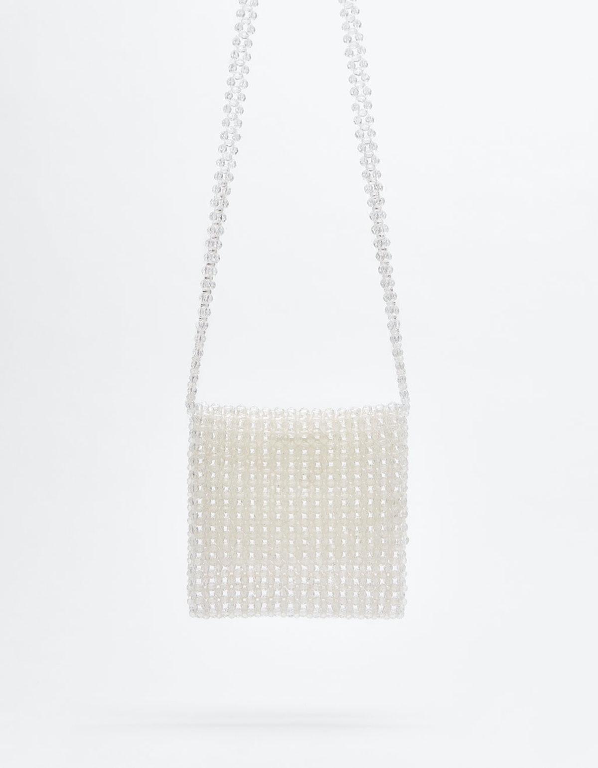 Transparent embellished bag