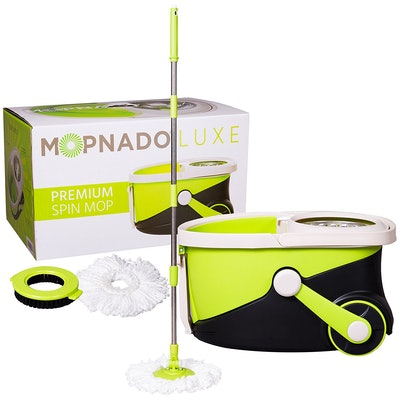 Mopnado, Stainless Steel Deluxe Rolling Spin Mop