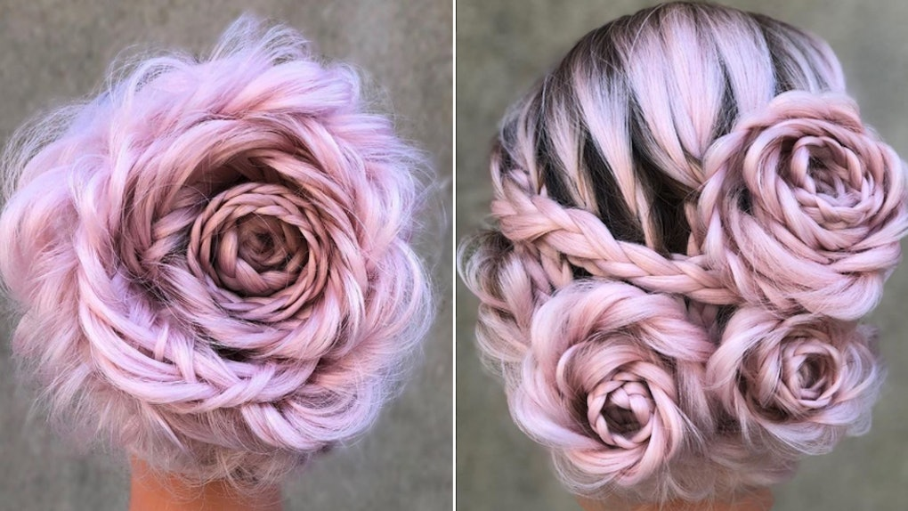 Braided Rose Hair Is The Perfect Proof That Spring Is In Full Bloom