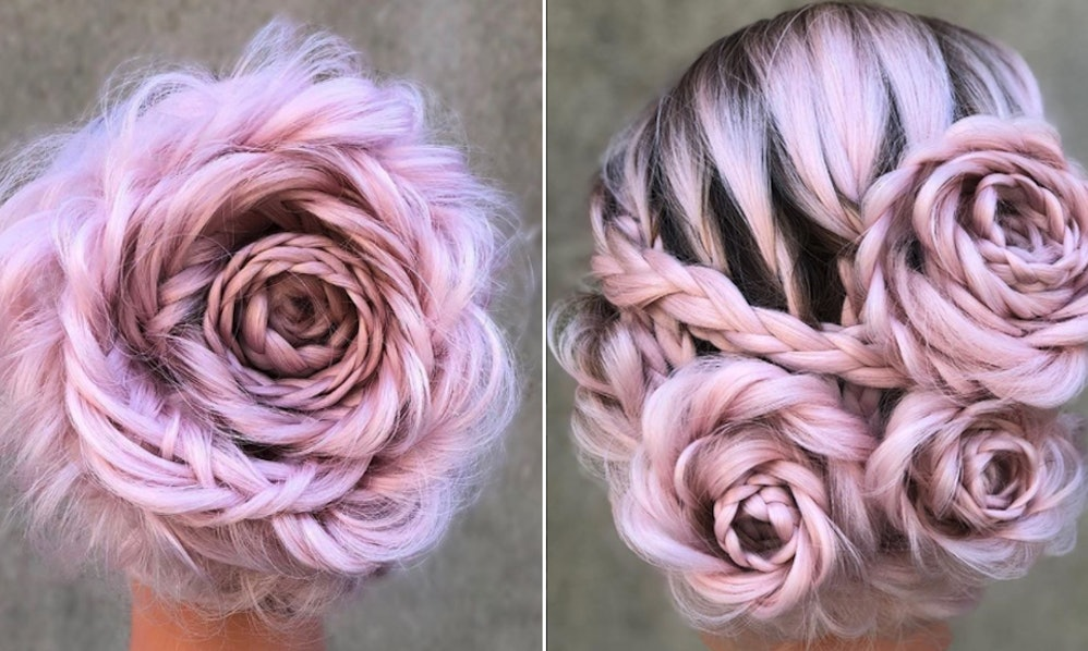 Braided Rose Hair Is The Perfect Proof That Spring Is In