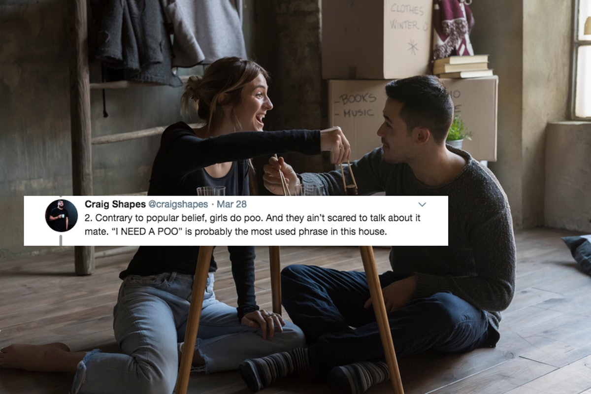 This Guy's Twitter Thread About Living With His Girlfriend Is Honestly So Spot On
