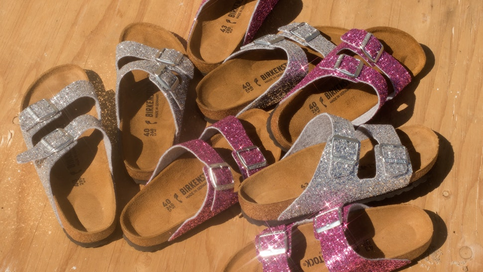 Where Can You Buy Glitter Birkenstocks  These Classic  90s Shoes Just Got A  Glitzy Upgrade 61c060d0f