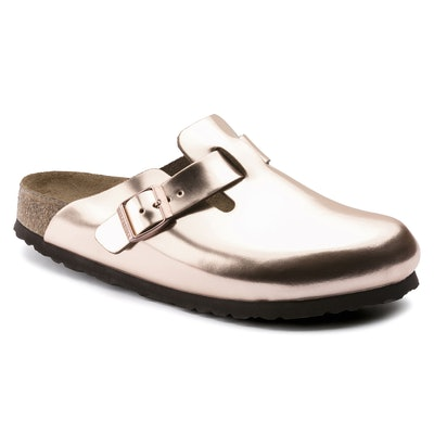 Boston Soft Footbed Natural Leather Metallic