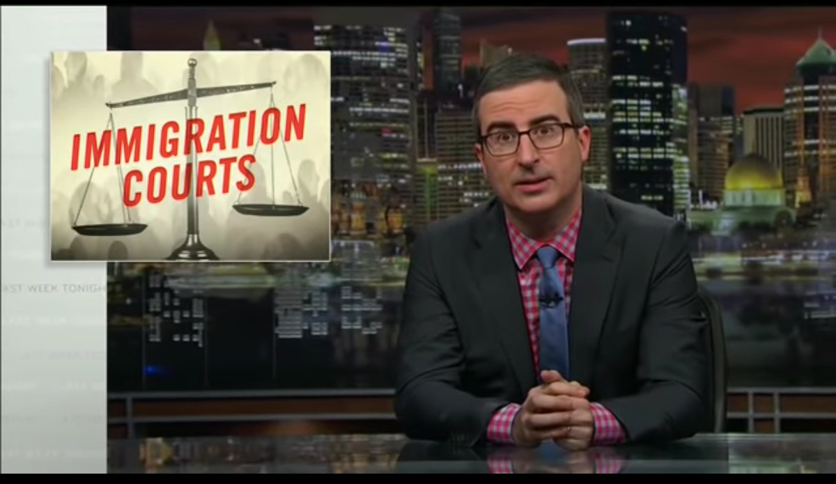 John Oliver's Segment On Immigration Courts Reveals Some Shocking Realities