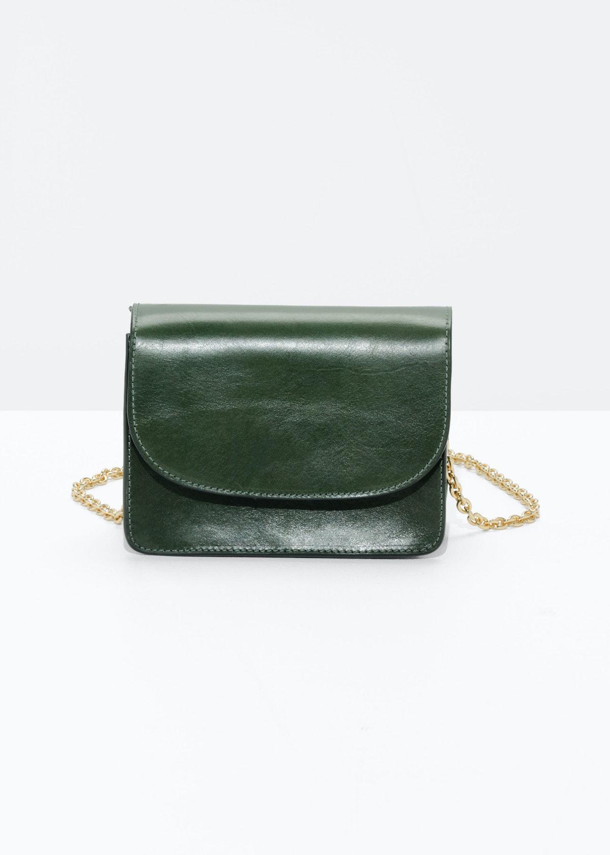 Golden Chain Flap Bag