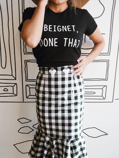 Checkered Bodycon Mermaid Skirt