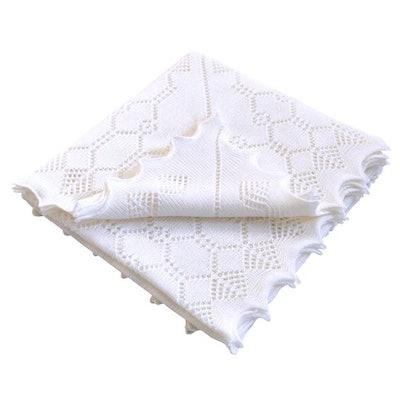 Elegant Soft Wool Baby Shawl