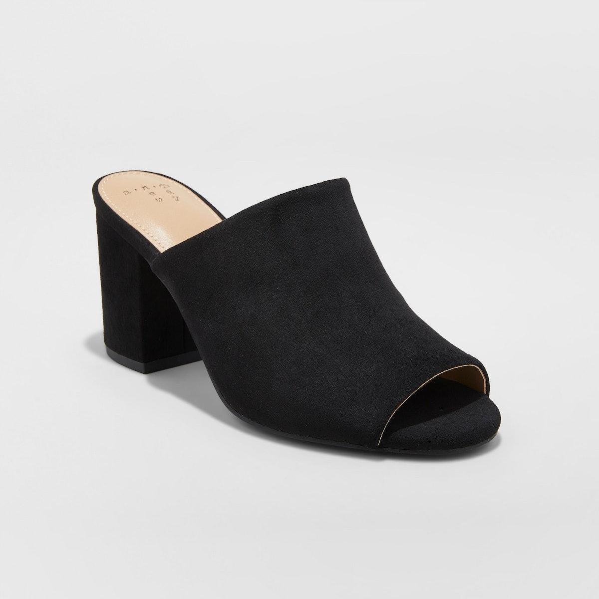Women's Didi Block Heel Mules - A New Day