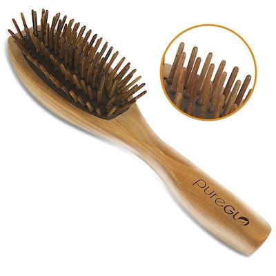pureGLO Wooden Bristle Hairbrush