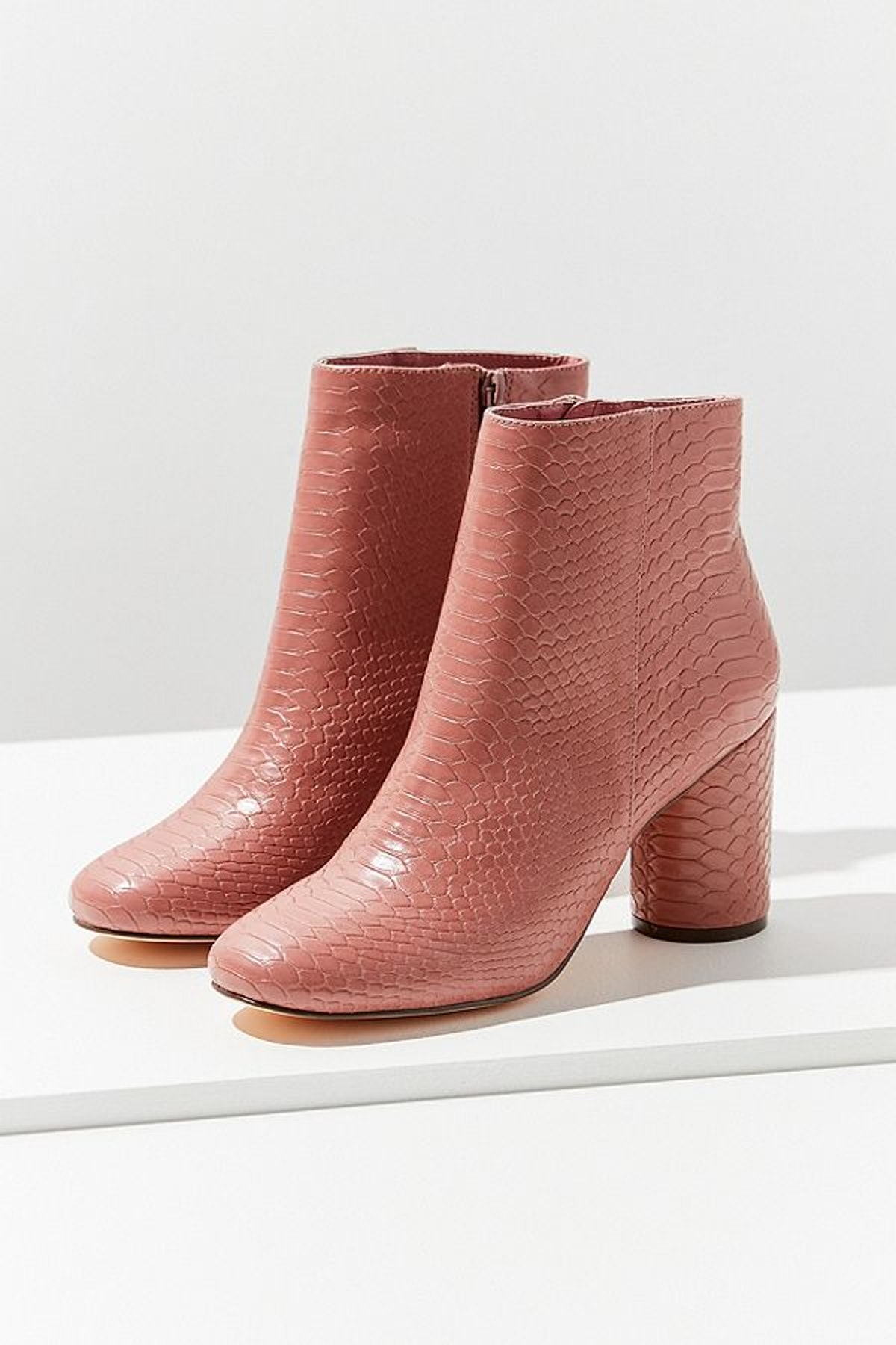 Sabrina Faux Snakeskin Ankle Boot