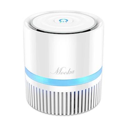 Mooka Desktop Air Cleaner With True HEPA Filter