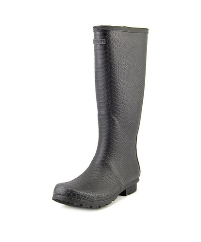 Bearpaw Womens Constance Rubber Closed Toe Knee High Rainboots