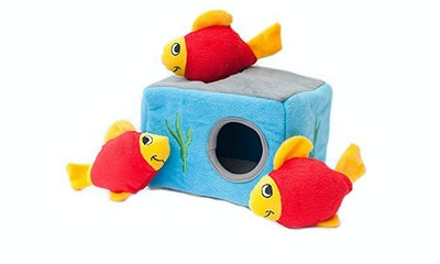 ZippyPaws Sea Buddies Burrow Interactive Squeaky Toy
