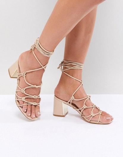Boohoo Lace Up Heeled Sandals