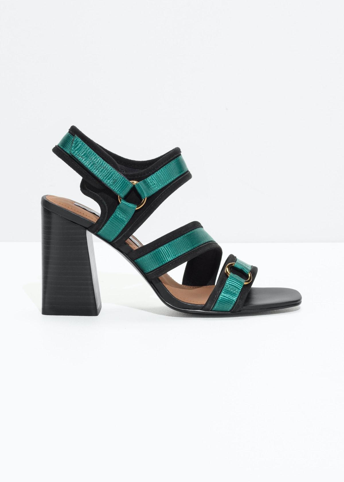 Square Toe Heeled Sandals
