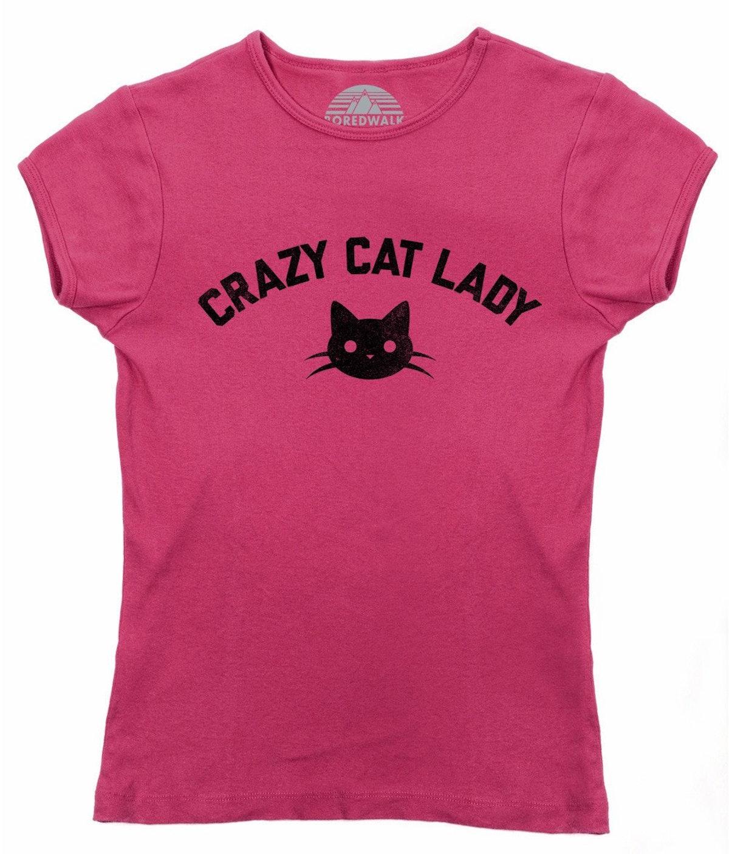 TEAM CRAZY CAT LADY T-SHIRT