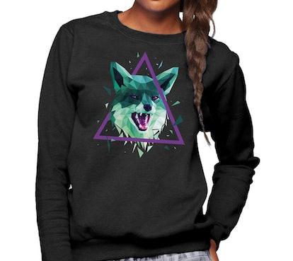 GEOMETRIC FOX SWEATSHIRT