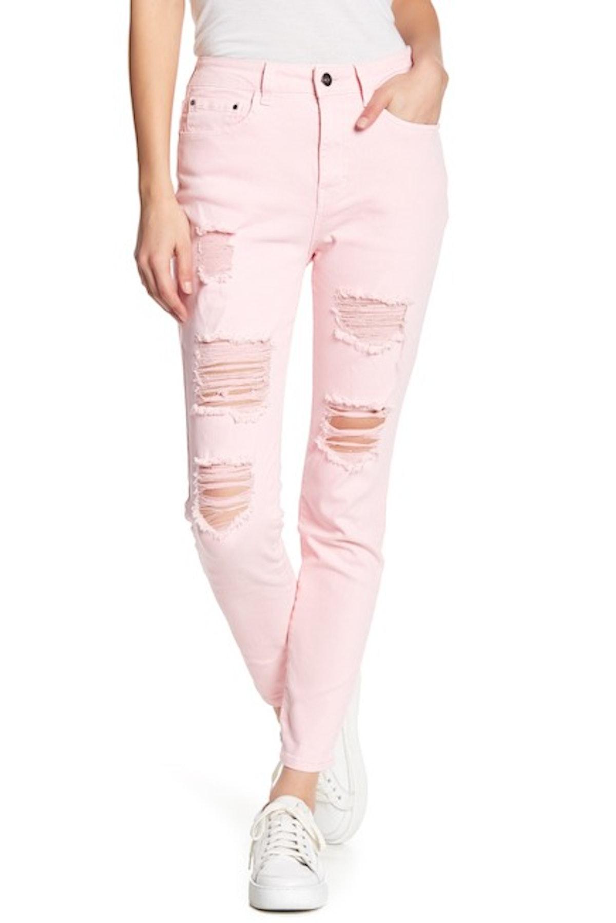 Abound Destroyed Denim Skinny Jeans
