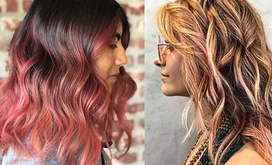 Photos Of Peach Hair Color Prove That This Sweet Trend Is 2018s