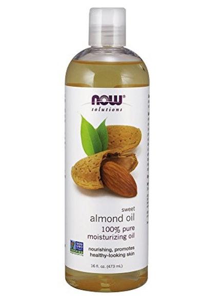 NOW Sweet Almond Oil 100 Percent Pure Moisturizing Oil