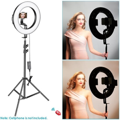 Neewer 14-inch Outer Dimmable Bi-color SMD LED Ring Light