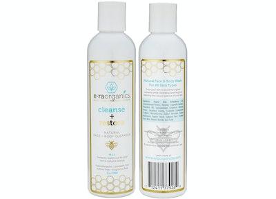 E•raorganics Cleanse + Restore Natural Face + Body Cleanser