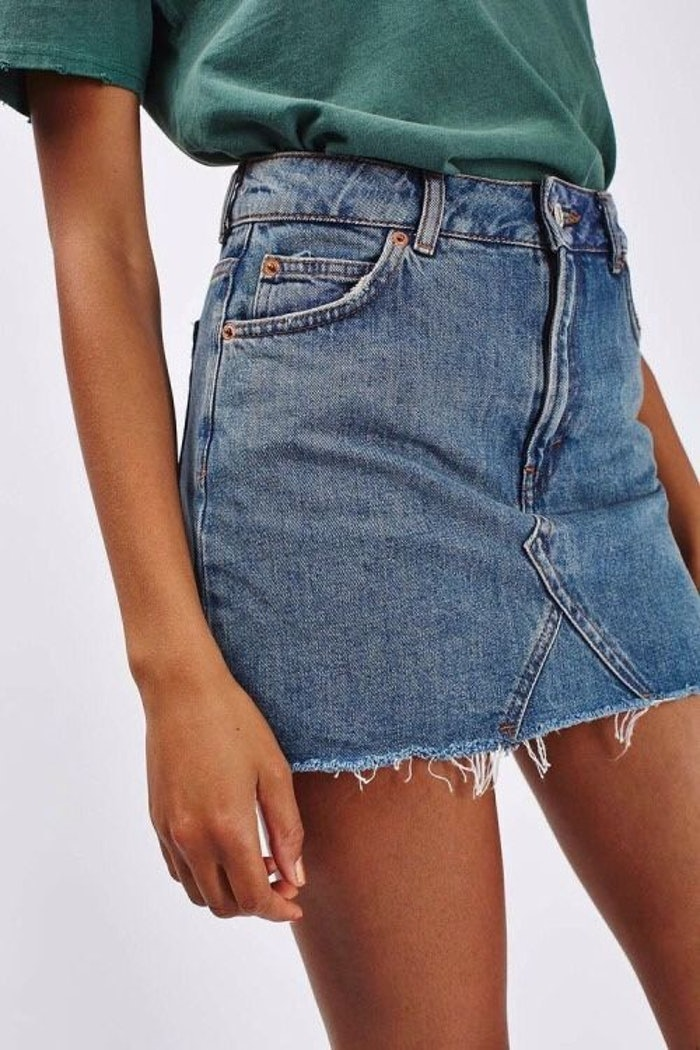 f23e17a961 This DIY Denim Skirt Will Be Your Summer Wardrobe Staple — Forget About  Cutoffs