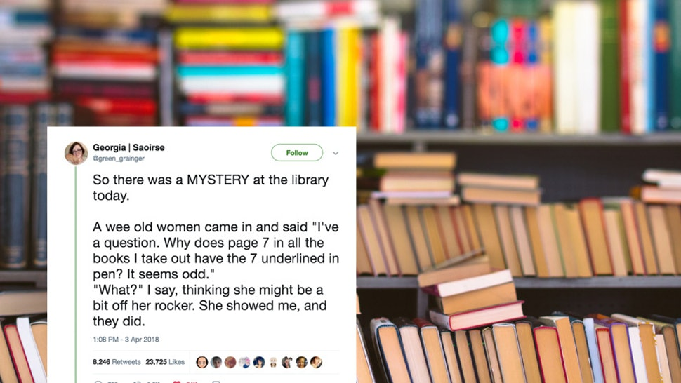 This Librarian Posted About A Library Mystery On Twitter