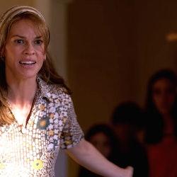"""Hilary Swank as John Paul Getty III's mother Abigail """"Gail"""" Harris Getty in 'Trust'"""