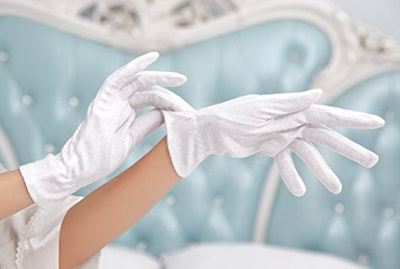 Beauty Care Wear, Large White Cotton Gloves for Moisturizing