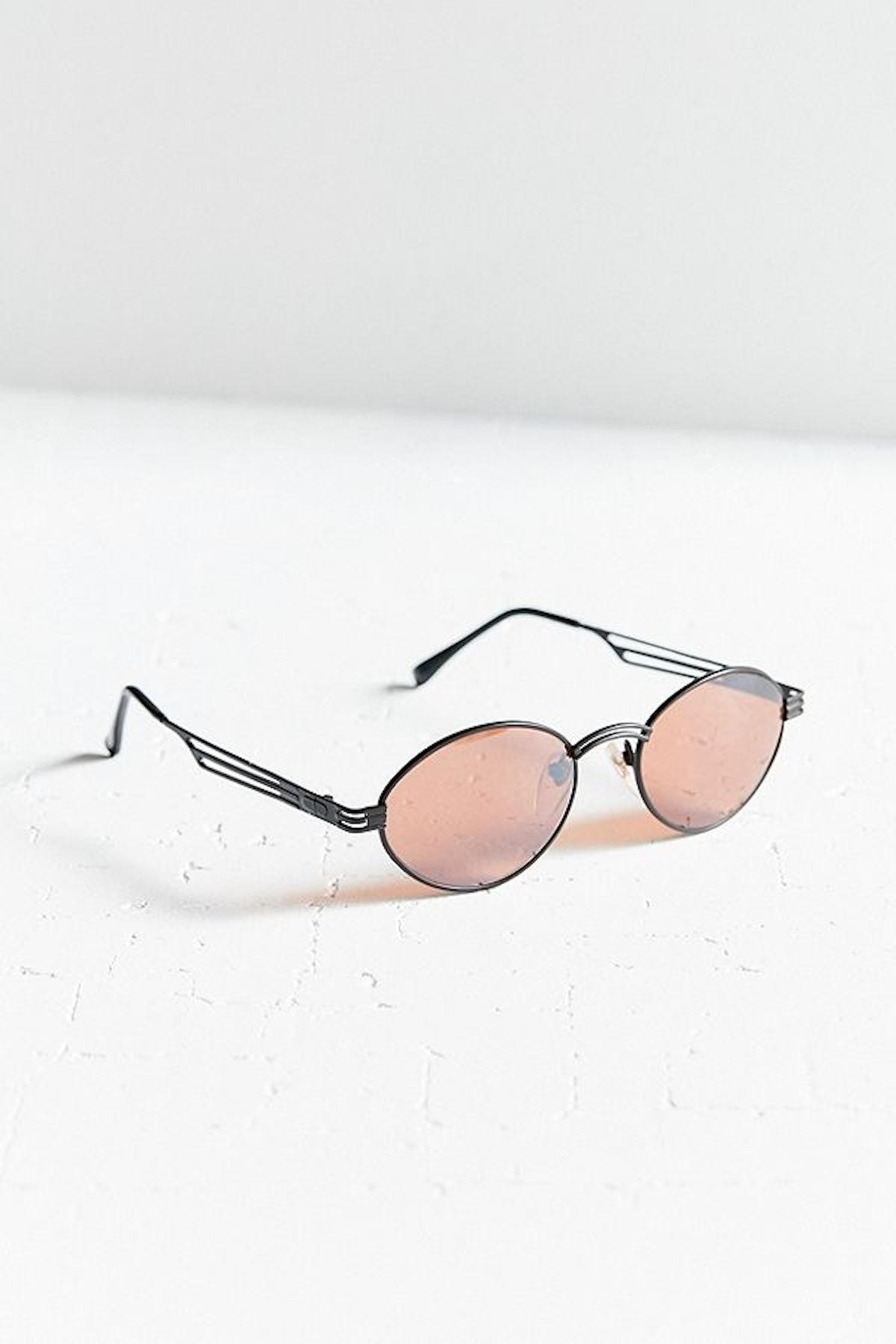 Vintage Detroit Oval Metal Sunglasses