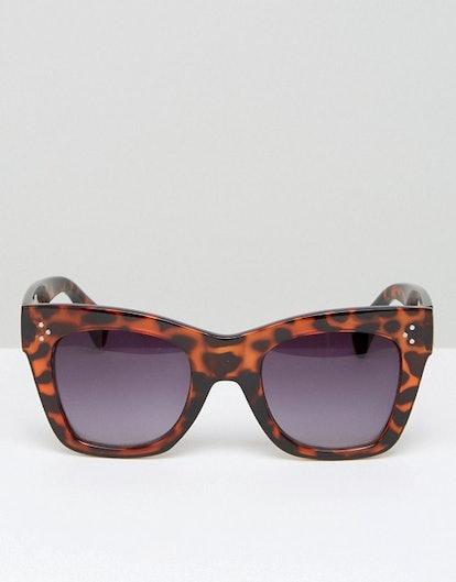 AJ Morgan Square Sunglasses In Tort